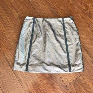 Nasty Gal Metallic Stripe Mini Skirt
